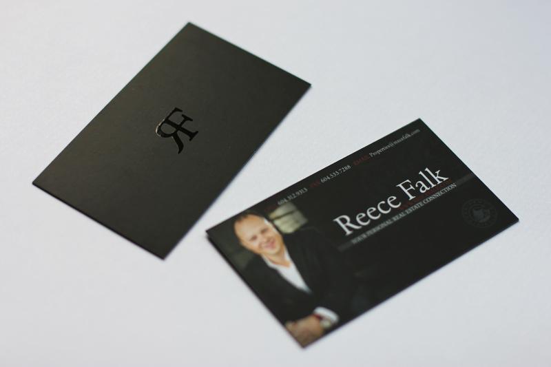 Elegant business card design vid milis real estate business card design colourmoves Choice Image